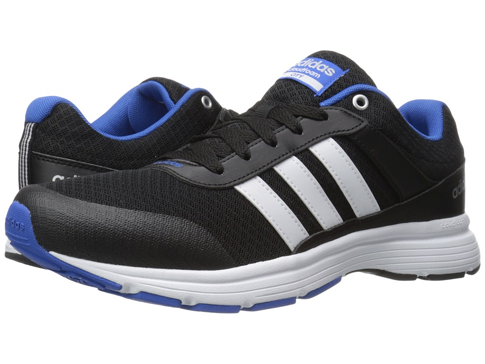 adidas - Cloudfoam VS City (Black/White/Blue) Men's Running Shoes