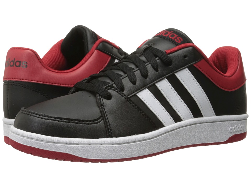 adidas - VS Hoops (Black/White/Power Red) Men's Shoes