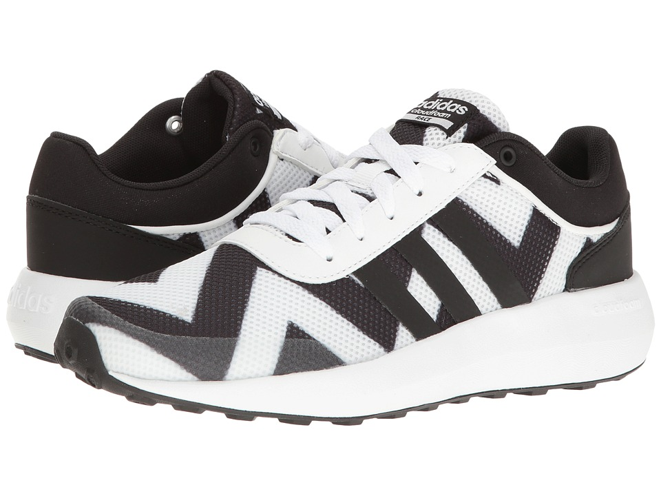 adidas - Cloudfoam Race (White/Black/White) Women's Shoes
