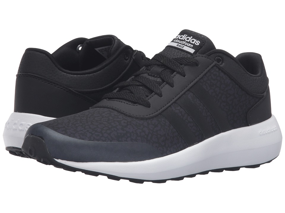 adidas - Cloudfoam Race (Black/White) Women's Shoes