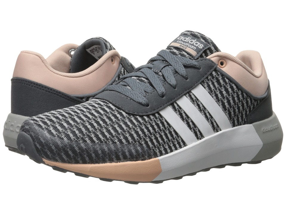 adidas - Cloudfoam Race (Onix/White/Vapour Pink) Women's Shoes