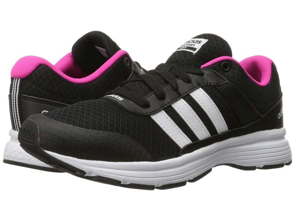 adidas - Cloudfoam VS City (Black/White/Shock Pink) Women's Running Shoes