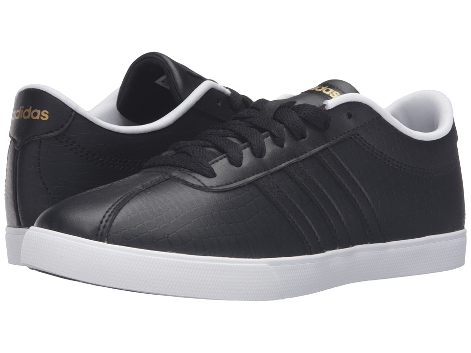 adidas - Courtset (Black/Black/Gold) Women's Lace up casual Shoes