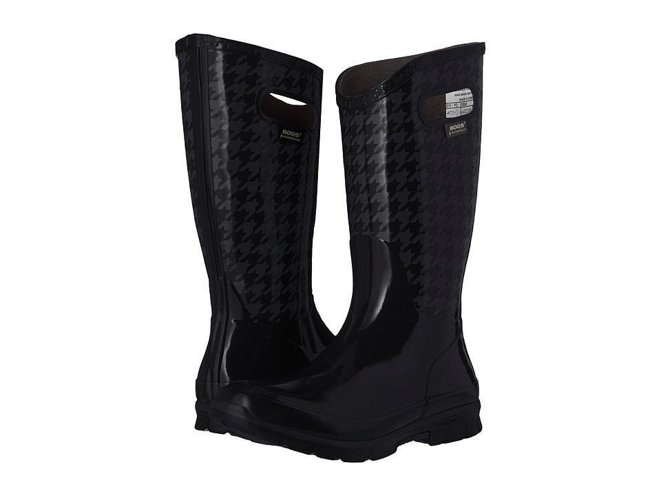 Bogs Berkley Houndstooth Waterproof Boot (Black Multi) Women