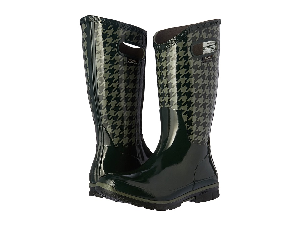 Bogs Berkley Houndstooth Waterproof Boot (Dark Green Multi) Women