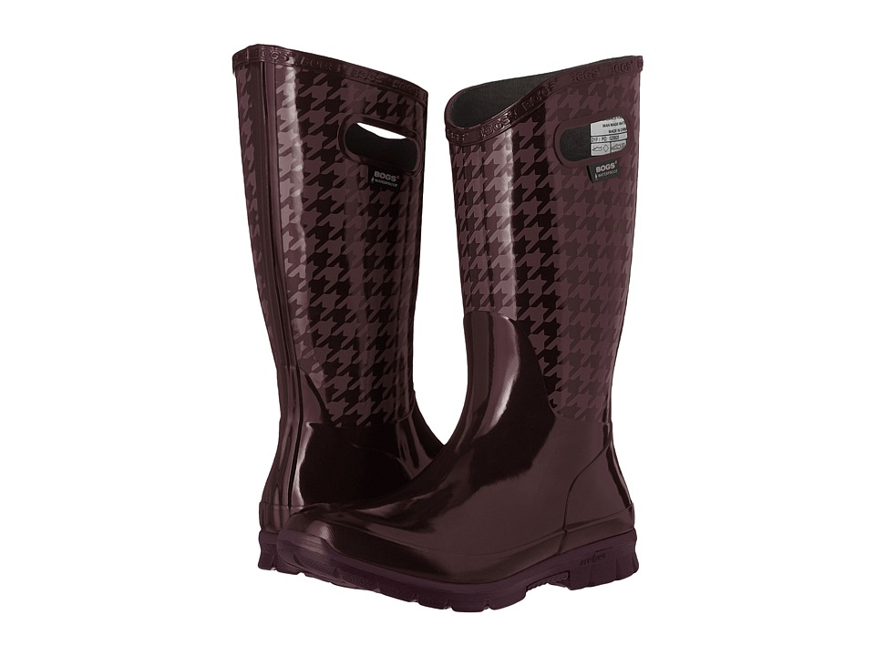 Bogs Berkley Houndstooth Waterproof Boot (Eggplant Multi) Women