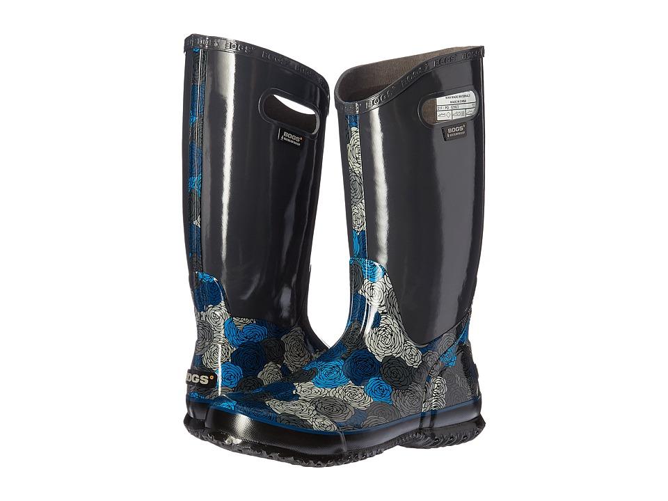 Bogs Rain Boot Rosey (Dark Gray Multi) Women