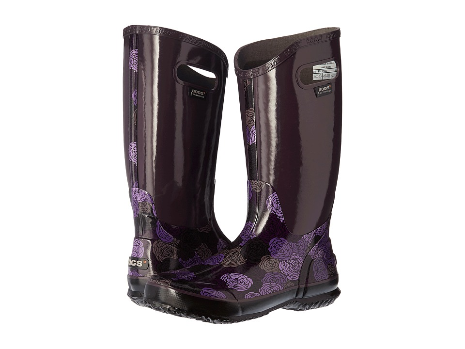 Bogs Rain Boot Rosey (Plum Multi) Women