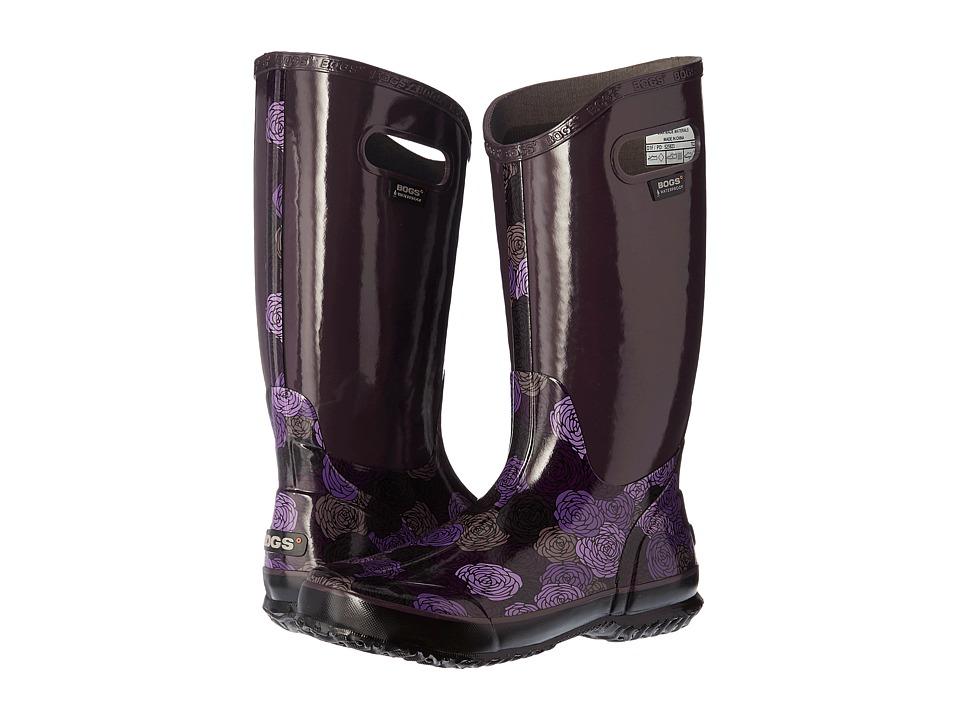 Bogs - Rain Boot Rosey (Plum Multi) Women's Rain Boots