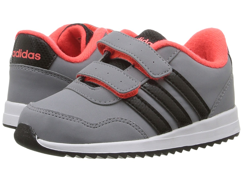 adidas Kids - V Jog CMF (Infant/Toddler) (Grey/Black/Solar Red) Kids Shoes