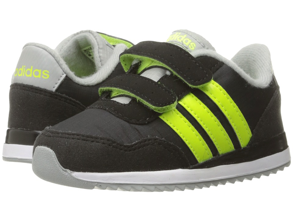 adidas Kids - V Jog CMF (Infant/Toddler) (Black/Solar Yellow/Clear Onix) Kids Shoes