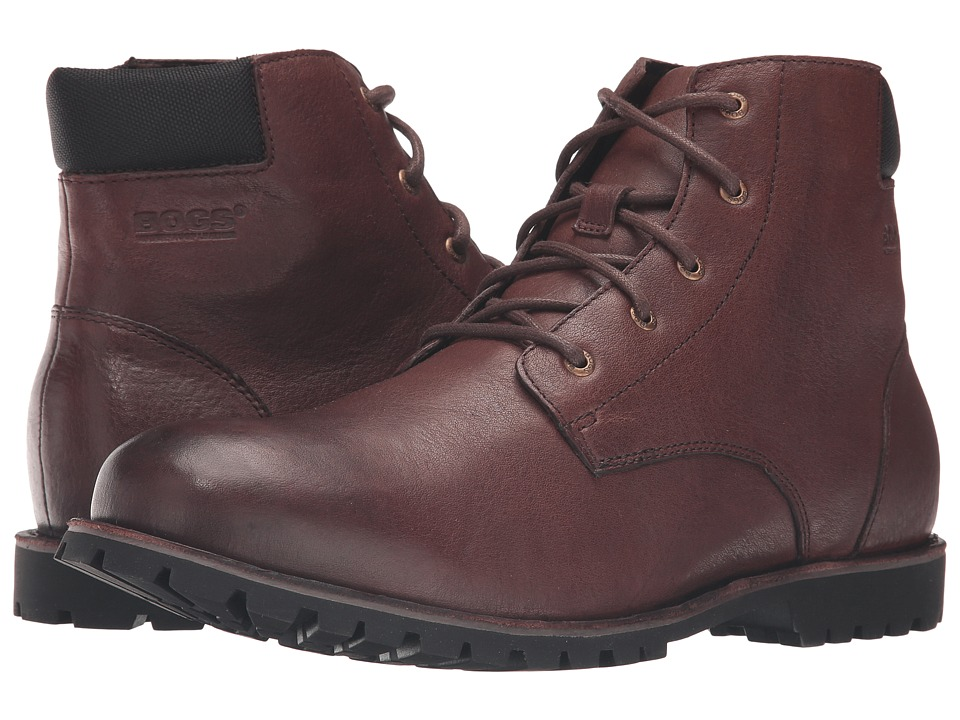 Bogs - Johnny 5-Eye Boot (Coffee) Men's Waterproof Boots