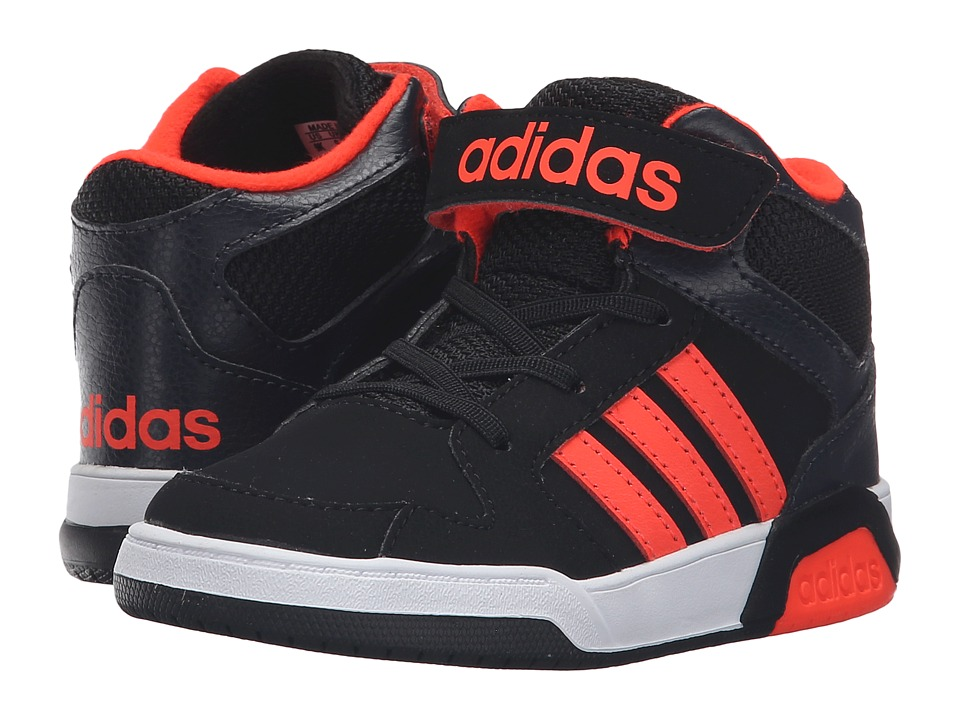adidas Kids - BB9TIS Mid (Infant/Toddler) (Black/Solar Red/White) Kids Shoes