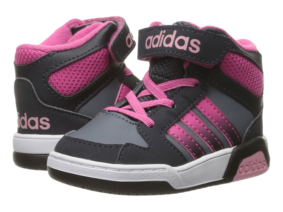 adidas Kids - BB9TIS Mid (Infant/Toddler) (Onix/Pink/Light Pink) Kids Shoes