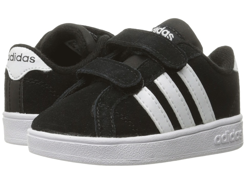 adidas Kids - Baseline CMF (Infant/Toddler) (Black/White) Kids Shoes
