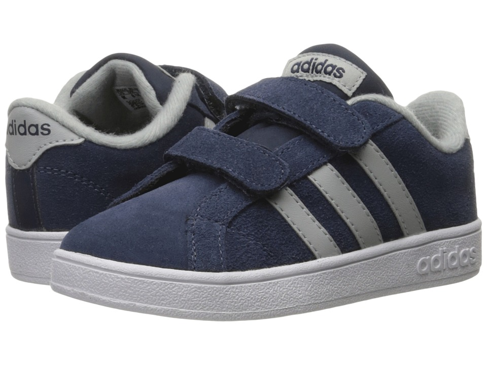 adidas Kids - Baseline CMF (Infant/Toddler) (Collegiate Navy/Clear Onix/White) Kids Shoes