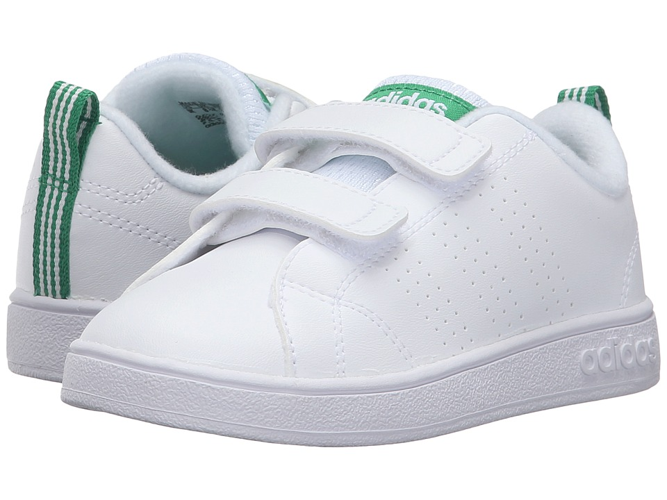 adidas Kids - VS Advantage Clean CMF (Infant/Toddler) (White/Green) Kids Shoes
