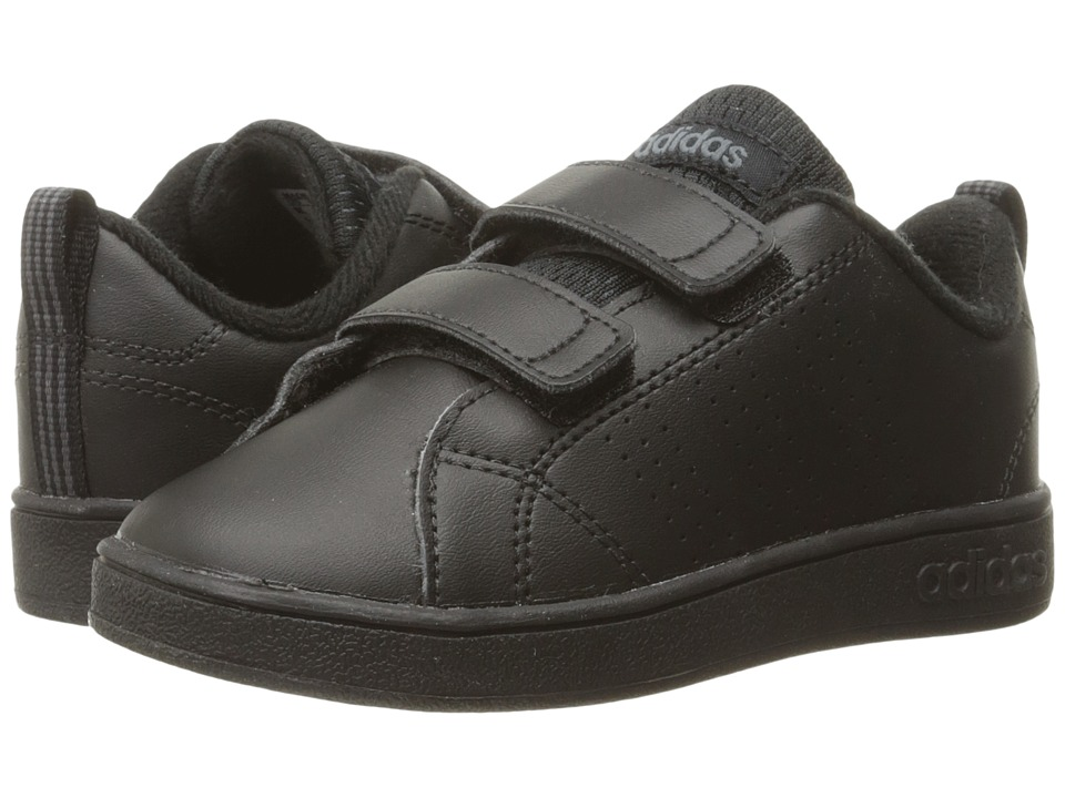 adidas Kids VS Advantage Clean CMF (Infant/Toddler) (Black/Onix) Kids Shoes