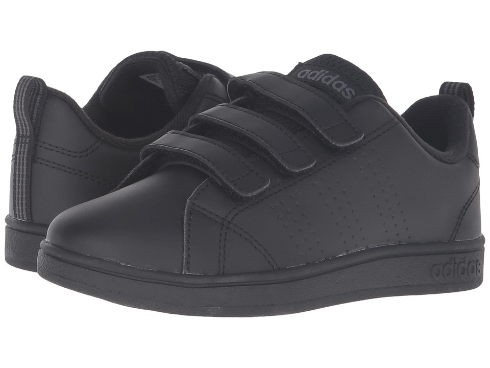 adidas Kids - VS Advantage Clean CMF (Little Kid) (Black/Onix) Kids Shoes