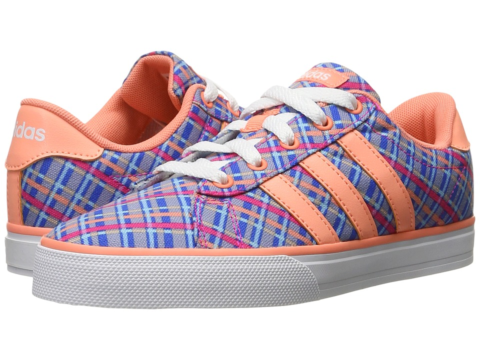 adidas Kids - SE Daily Vulc (Little Kid/Big Kid) (Blue/Sun Glow/White) Kids Shoes