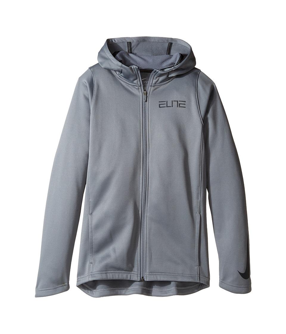 Nike Kids - Therma Elite Basketball Hoodie (Little Kids/Big Kids) (Cool Grey/Cool Grey/Anthracite) Boy's Clothing