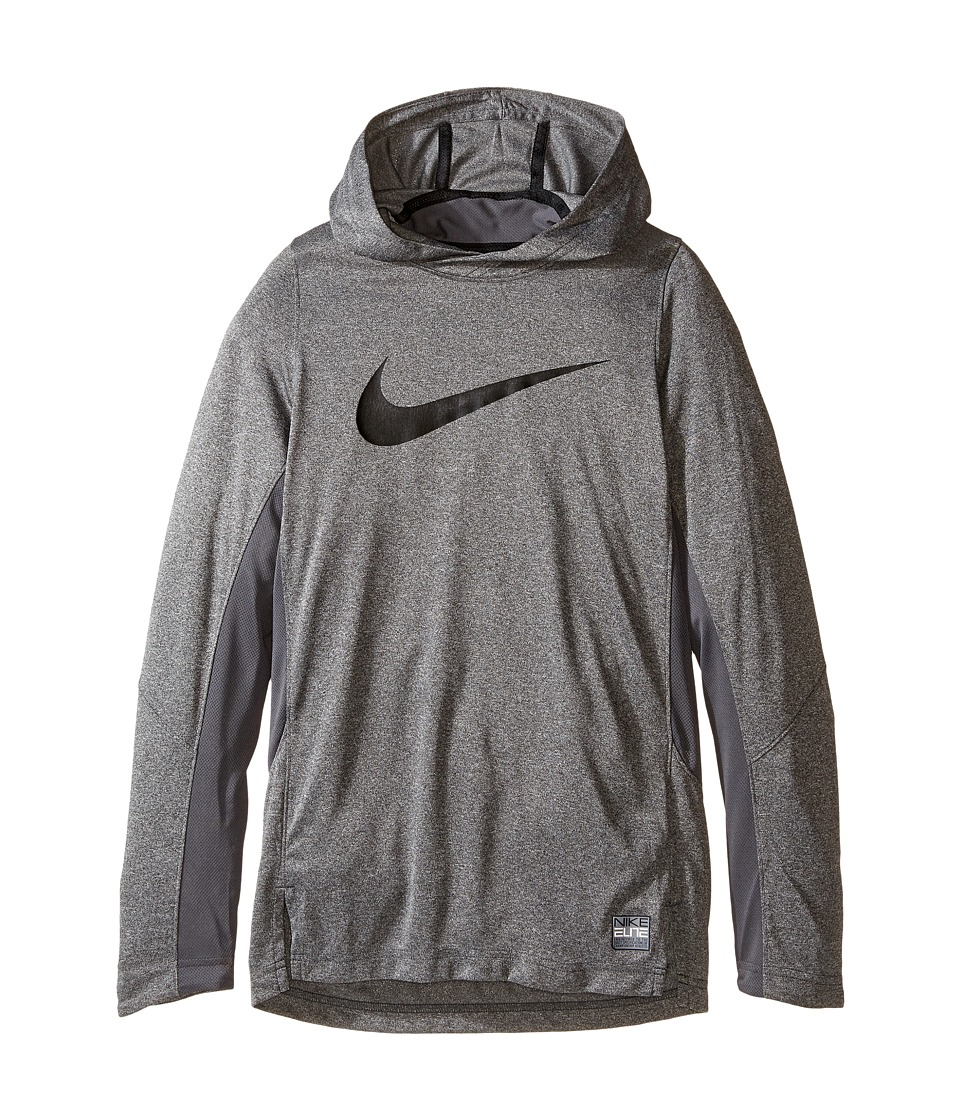 Nike Kids - Dry Elite Shooter Hoodie (Little Kids/Big Kids) (Charcoal Heather) Boy's Clothing