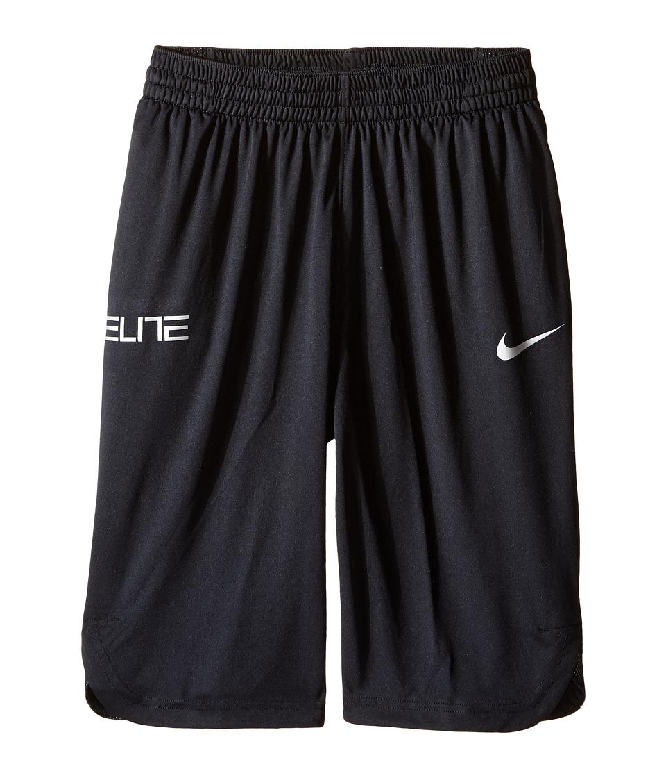 Nike Kids - Elite Basketball Short (Little Kids/Big Kids) (Black/Black/Wolf Grey) Boy's Shorts