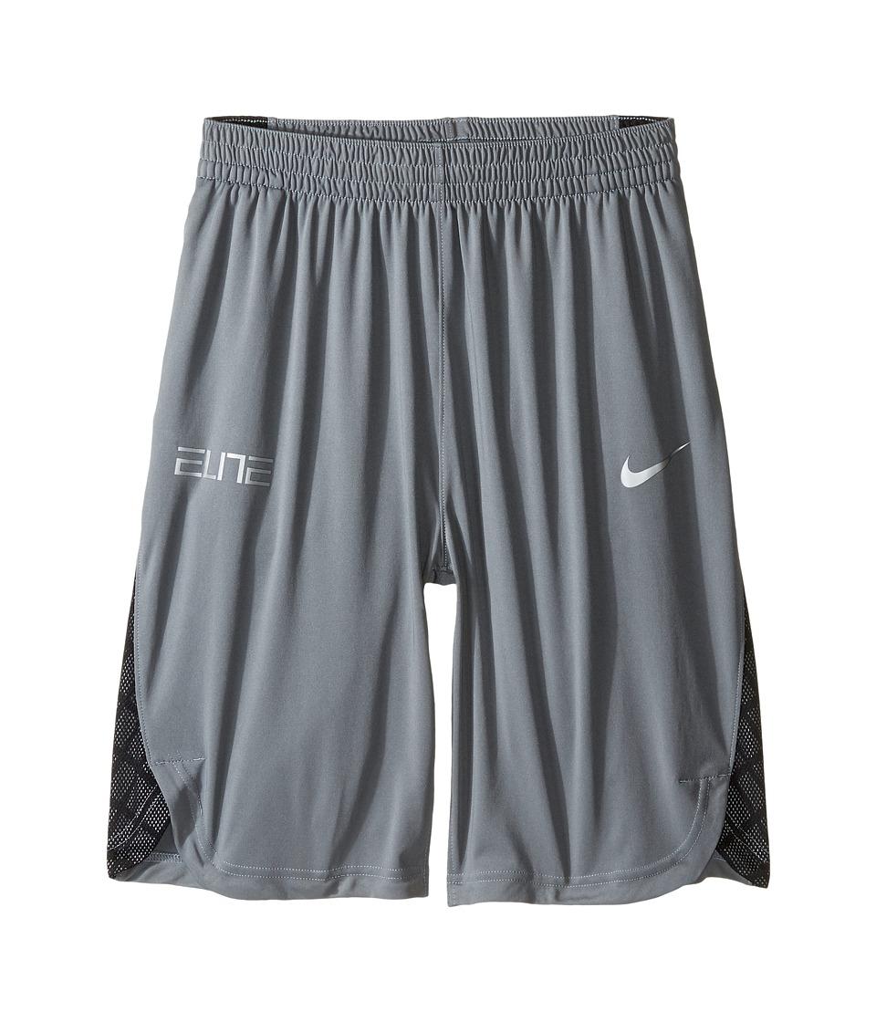 Nike Kids - Elite Basketball Short (Little Kids/Big Kids) (Cool Grey/Black/Wolf Grey) Boy's Shorts