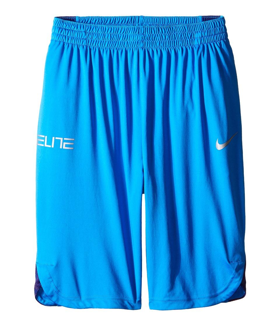 Nike Kids - Elite Basketball Short (Little Kids/Big Kids) (Light Photo Blue/Deep Royal Blue/Light Crimson) Boy's Shorts