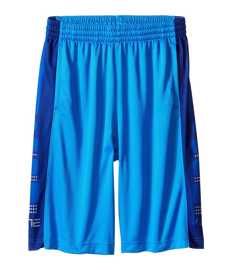 Nike Kids - Elite 8 Basketball Short (Little Kids/Big Kids) (Light Photo Blue/Deep Royal Blue) Boy's Shorts
