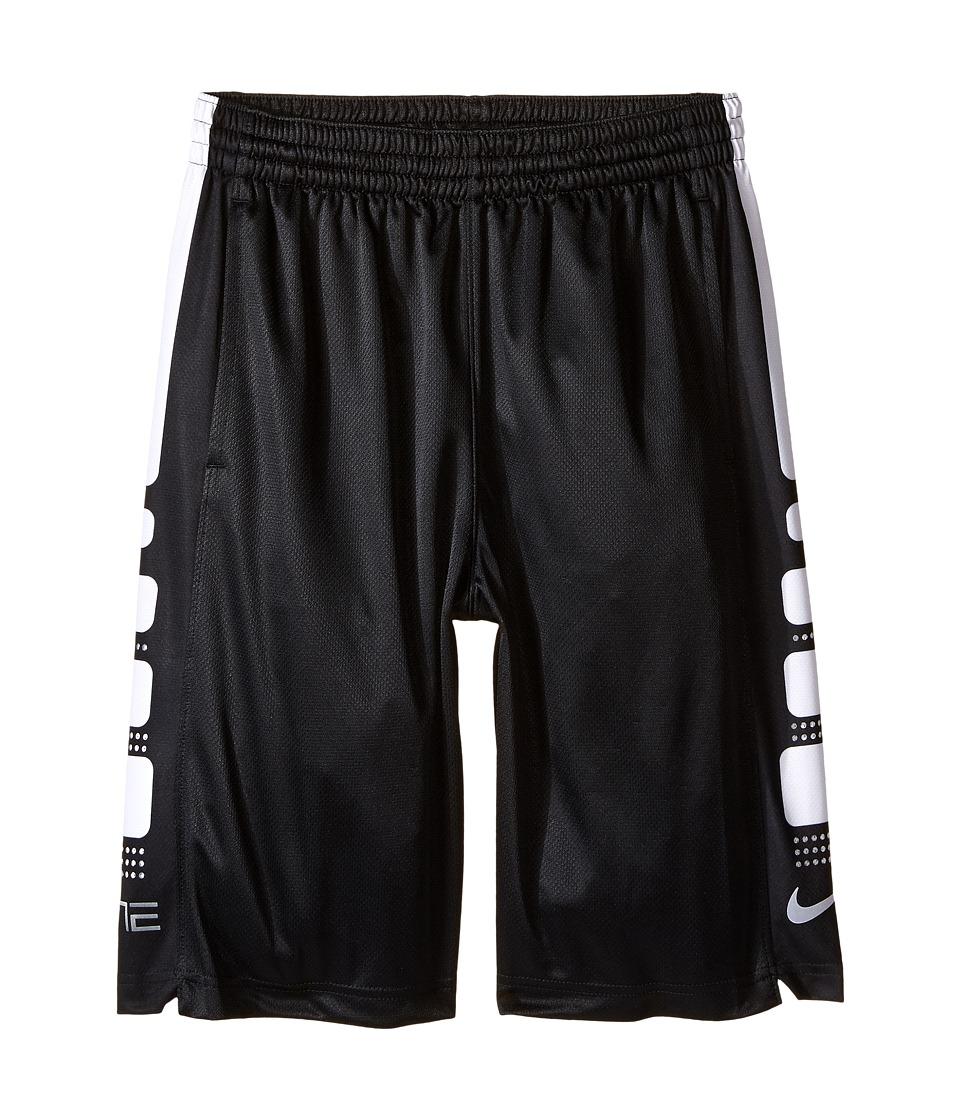 Nike Kids - Elite 8 Basketball Short (Little Kids/Big Kids) (Black/White) Boy's Shorts