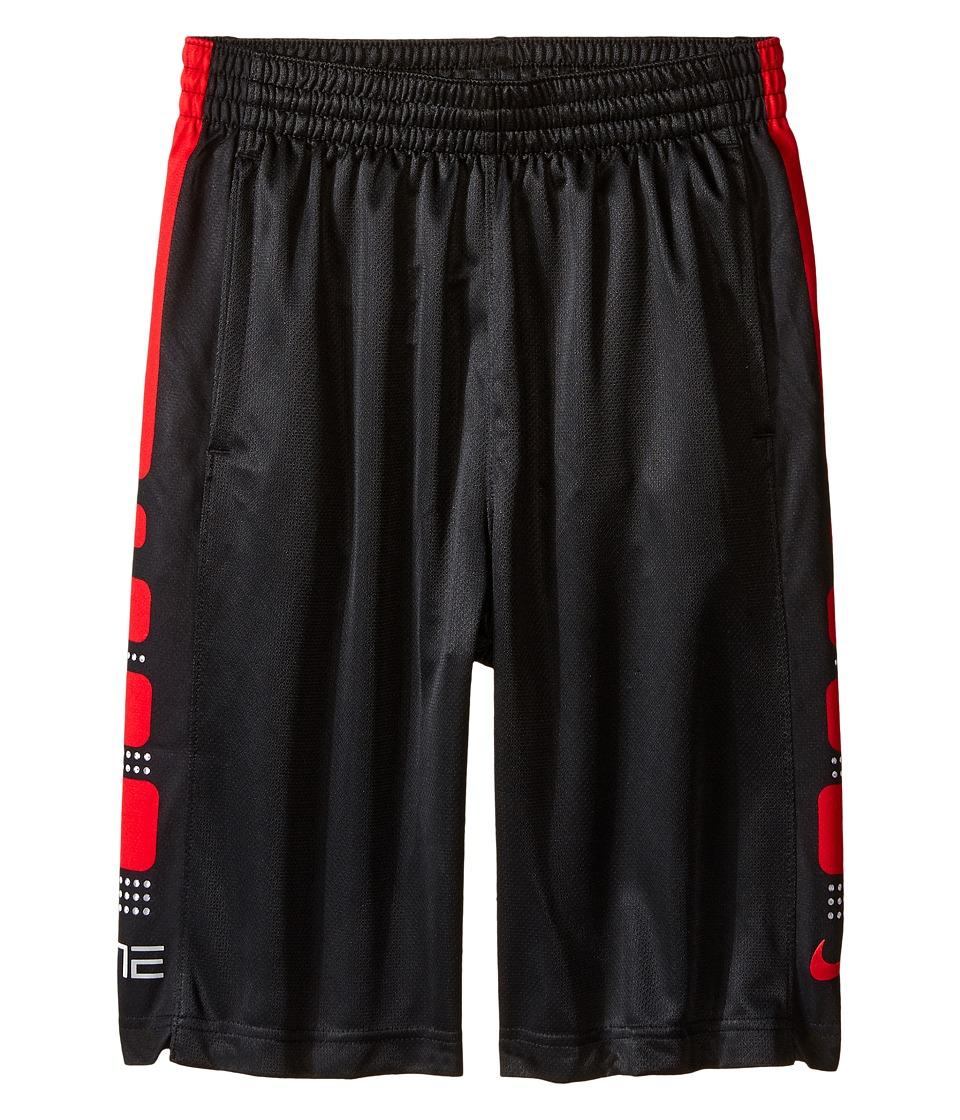 Nike Kids - Elite 8 Basketball Short (Little Kids/Big Kids) (Black/University Red) Boy's Shorts