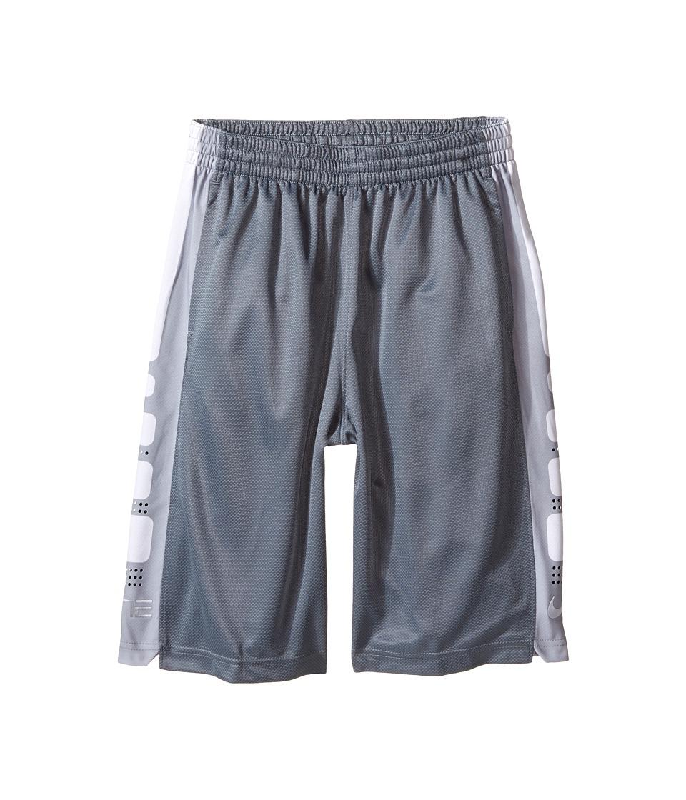 Nike Kids - Elite 8 Basketball Short (Little Kids/Big Kids) (Cool Grey/White) Boy's Shorts