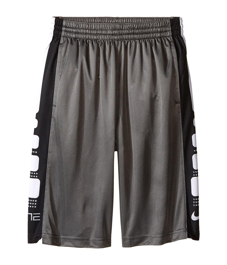 Nike Kids - Elite 8 Basketball Short (Little Kids/Big Kids) (Charcoal Heather/Black) Boy's Shorts