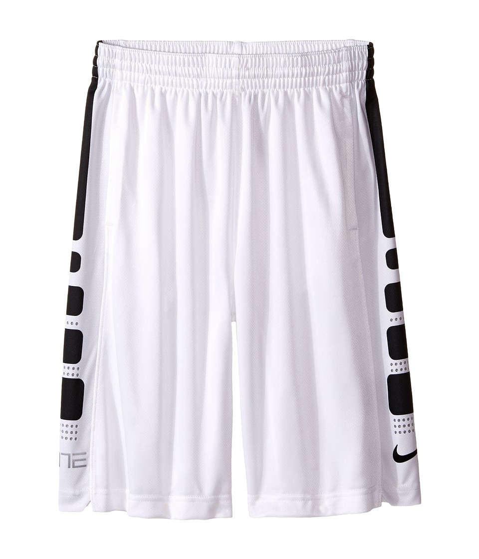 Nike Kids - Elite 8 Basketball Short (Little Kids/Big Kids) (White/Black) Boy's Shorts