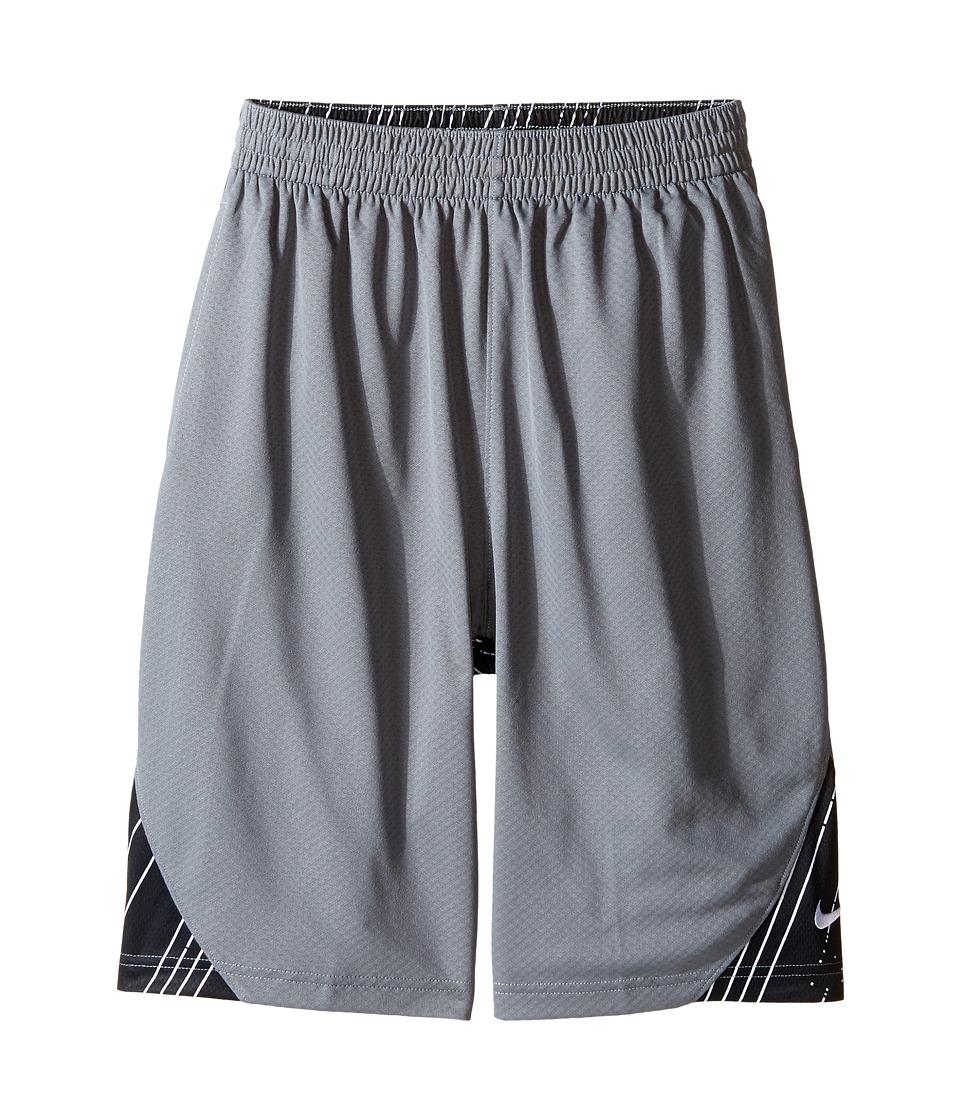 Nike Kids - GFX Avalanche Shorts (Little Kids/Big Kids) (Cool Grey/Black/White) Boy's Shorts