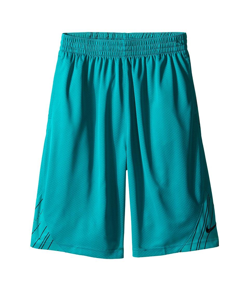 Nike Kids - GFX Avalanche Shorts (Little Kids/Big Kids) (Rio Teal/Black/Black) Boy's Shorts