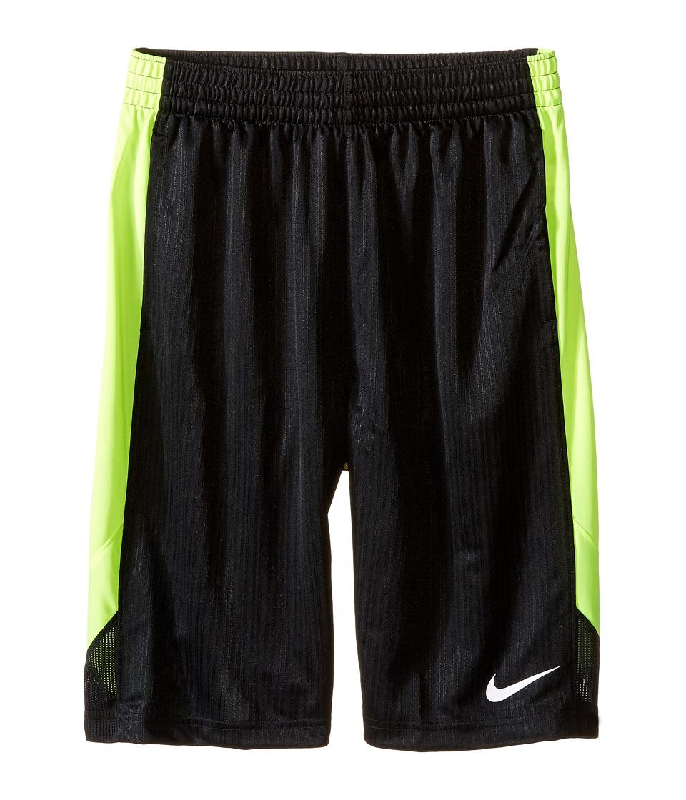 Nike Kids - Layup Shorts (Little Kids/Big Kids) (Black/Volt/Black/White) Boy's Shorts