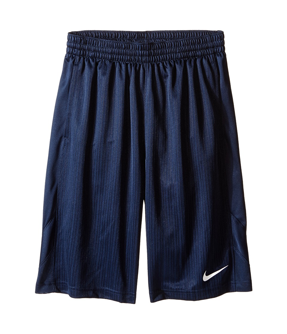 Nike Kids - Layup Shorts (Little Kids/Big Kids) (Obsidian/Obsidian/Obsidian/White) Boy's Shorts