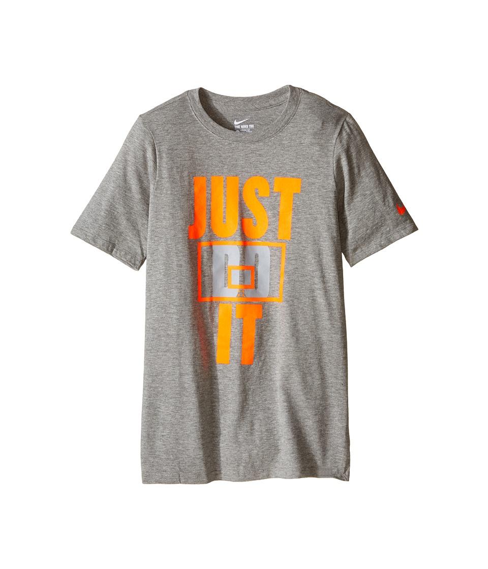Nike Kids - Backboard Basketball T-Shirt (Little Kids/Big Kids) (Dark Grey Heather) Boy's Clothing