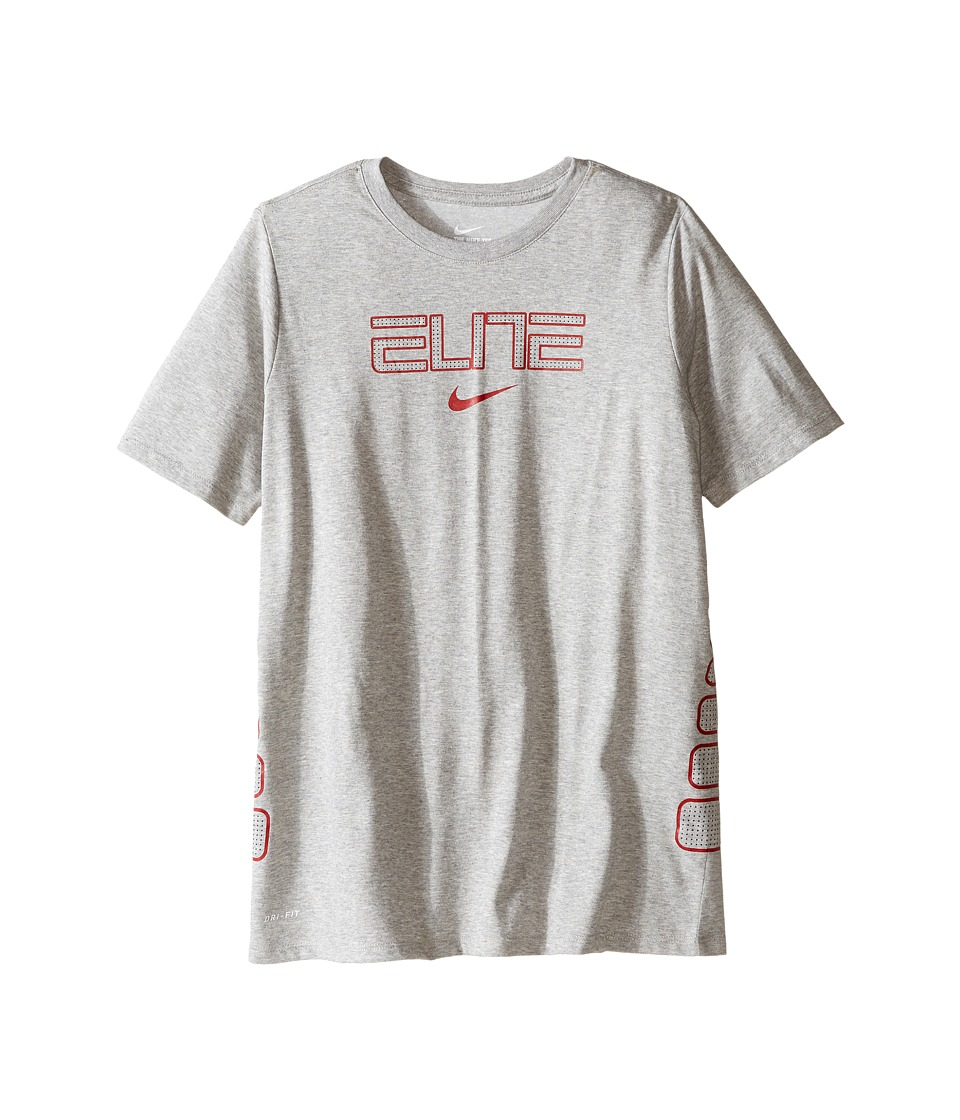 Nike Kids - Dry Elite Basketball T-Shirt (Little Kids/Big Kids) (Dark Grey Heather) Boy's Clothing