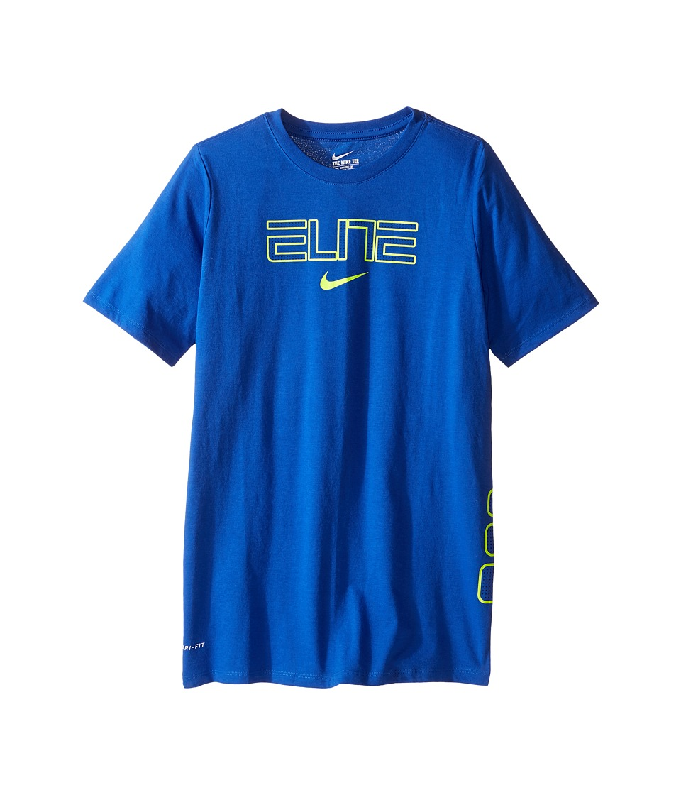Nike Kids - Dry Elite Basketball T-Shirt (Little Kids/Big Kids) (Game Royal) Boy's Clothing