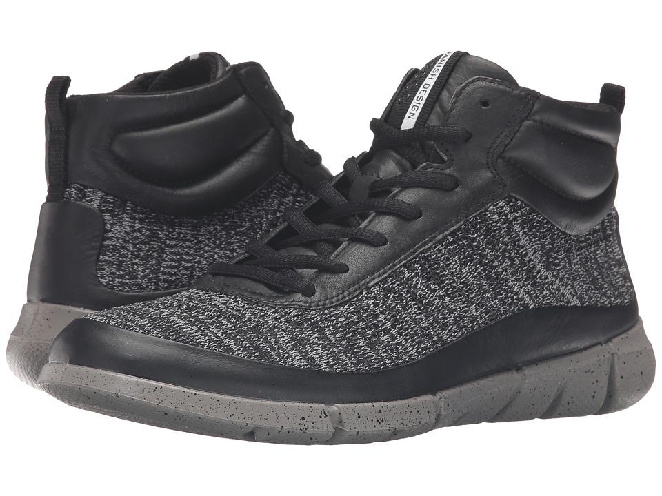 ECCO Sport - Intrinsic 1 High (Black/Concrete) Women's Shoes