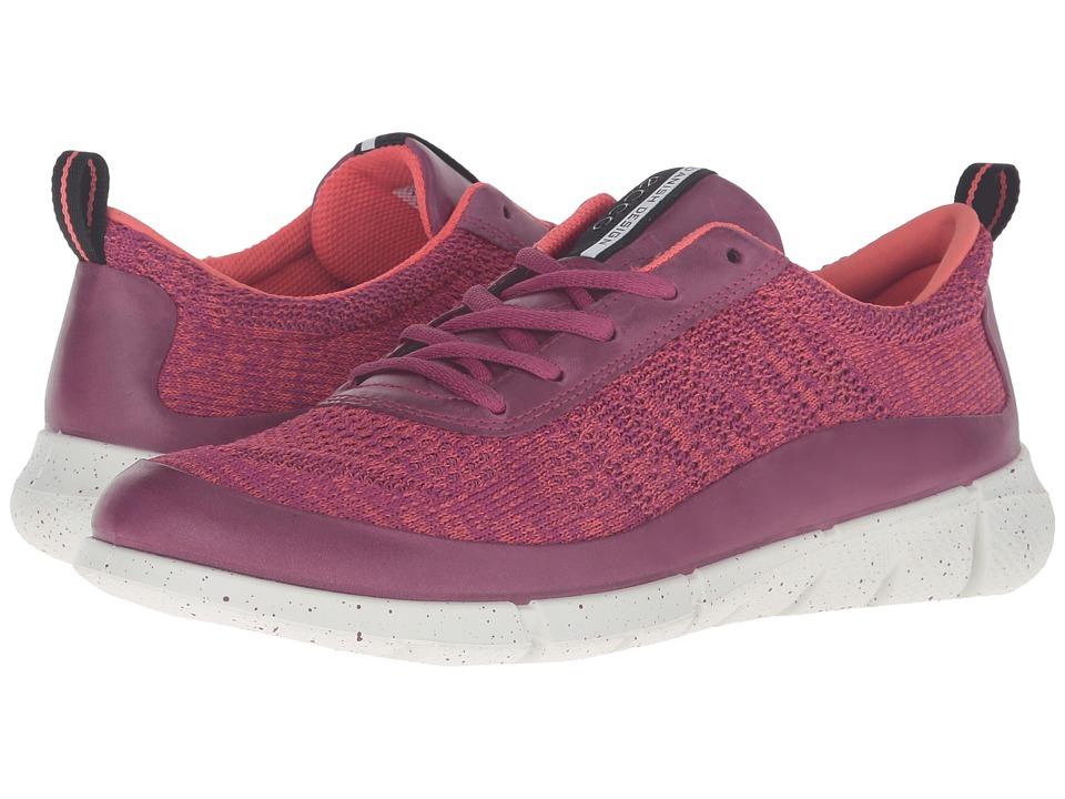 ECCO Sport - Intrinsic Knit (Fuchsia/Coral Blush) Women's Walking Shoes