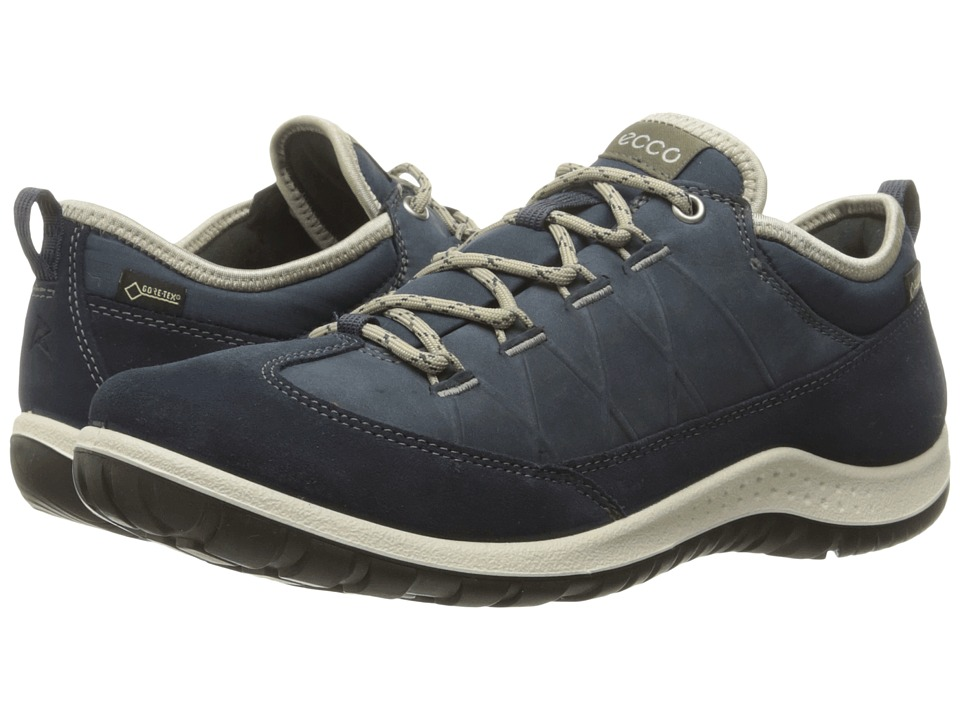 ECCO Sport - Aspina Low GTX (Marine/Marine) Women's Shoes