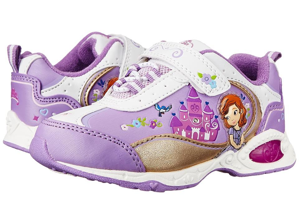 Josmo Kids Sophia Bungee Sneaker (Toddler/Little Kid) (White/Purple) Girls Shoes