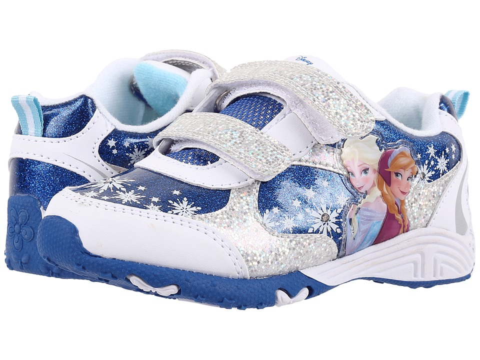 Josmo Kids Frozen Lighted Sneaker (Toddler/Little Kid) (White/Blue) Girls Shoes