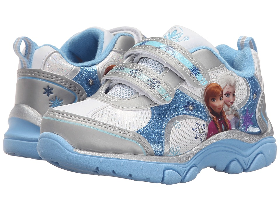 Josmo Kids - Frozen Lighted Sneaker (Toddler/Little Kid) (White/Light Blue) Girls Shoes