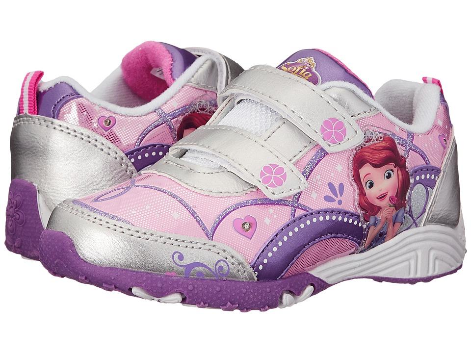 Josmo Kids Sophia Sneaker (Toddler/Little Kid) (Silver/Purple) Girls Shoes
