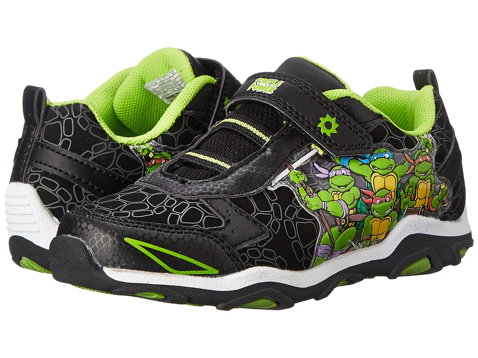 Josmo Kids - Ninja Turtle Sneaker (Toddler/Little Kid) (Black/Green) Boys Shoes